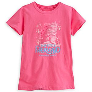 The Little Mermaid: A Broadway Musical Tee for Women - Pink