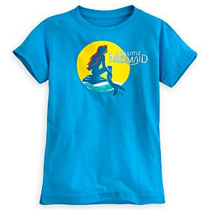 The Little Mermaid: A Broadway Musical Tee for Women - Blue