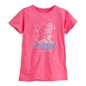 The Little Mermaid: A Broadway Musical Tee for Girls - Pink