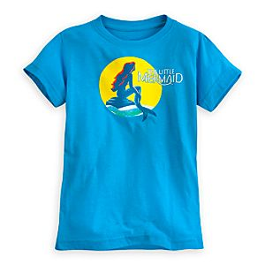 The Little Mermaid: A Broadway Musical Tee for Girls - Blue