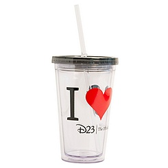 Mickey Mouse ''I ♥ Mickey'' Tumbler with Straw - D23