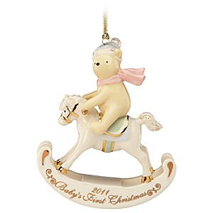Babys First Christmas Classic Winnie the Pooh Ornament by Lenox