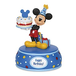 Mickey Mouse with Birthday Cake Musical Figurine by Disney Showcase