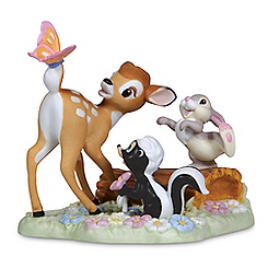 Bambi, Thumper, and Flower Figurine by Precious Moments