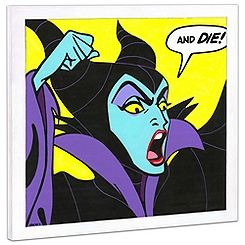Maleficent Giclée on Canvas