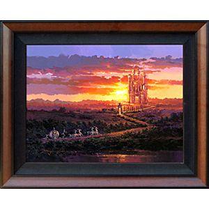 Cinderella ''Castle at Sunset''  Giclée on Canvas by Rodel Gonzalez