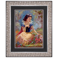 Snow White Giclée on Canvas
