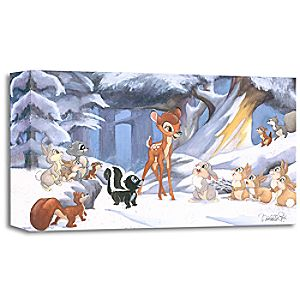 Bambi ''Cold Winter Woods'' Giclée by Michelle St.Laurent