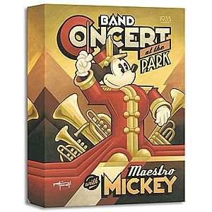 ''Maestro Mickey's Band Concert'' Giclée by Mike Kungl