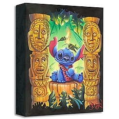 Stitch ''Tiki Trouble'' Giclée by James C. Mulligan