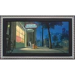 Lady and the Tramp ''A Night with Lady'' Giclée by Rob Kaz