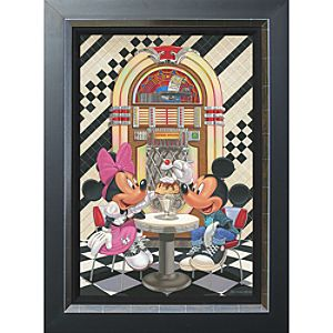 Mickey and Minnie Mouse ''Sundae for Two'' Giclée by Manuel Hernandez