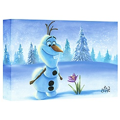 Olaf ''Snowman in Spring'' Giclée on Canvas by Jimmy Mulligan