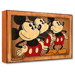 Mickey Mouse ''Three Vintage Mickeys'' Giclée by Trevor Carlton