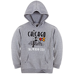 Pullover Fleece Chicago Windy City Mickey Mouse Hoodie for Kids