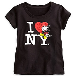 Mickey Mouse Tee for Girls - I ♥ NY