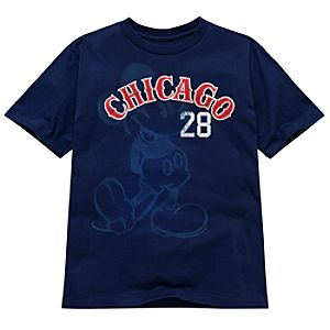 Chicago Baseball Mickey Mouse Tee for Boys -- Made With Organic Cotton