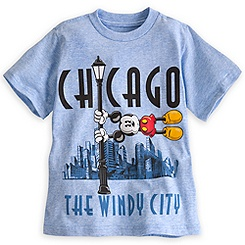 Chicago Windy City Mickey Mouse Tee for Kids -- Made With Organic Cotton
