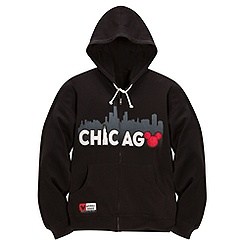 Zip Fleece Chicago Mickey Mouse Hoodie for Adults