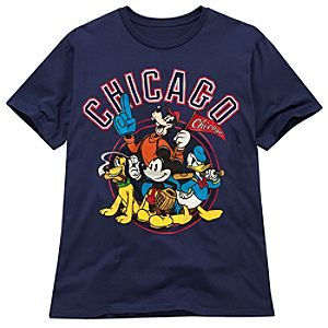 Chicago Baseball Mickey Mouse Tee for Men -- Made With Organic Cotton