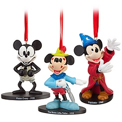 Walt Disney Studios Mickey Mouse Ornament Set -- 3-Pc.