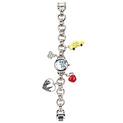 New York Minnie Mouse Charm Bracelet Watch