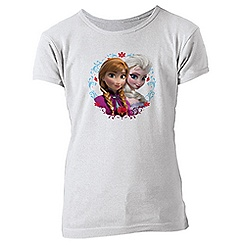 Anna and Elsa Tee for Girls - Frozen - Customizable