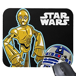 C-3PO and R2-D2 Mouse Pad - Customizable