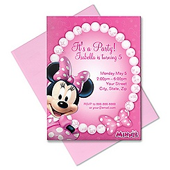 Minnie Mouse Invitation - Customizable - Pink