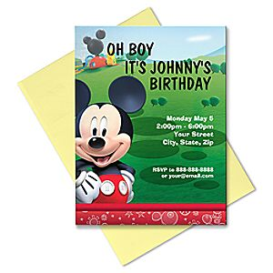 Mickey Mouse Invitation - Create Your Own
