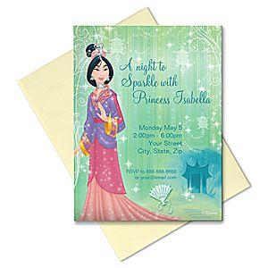 Mulan Invitation - Create Your Own