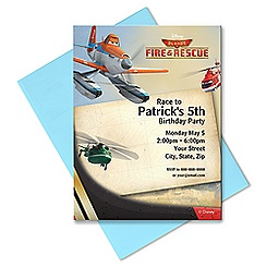 Planes: Fire & Rescue Invitation - Customizable