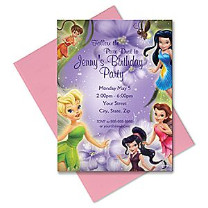 Disney Fairies Invitation - Customizable