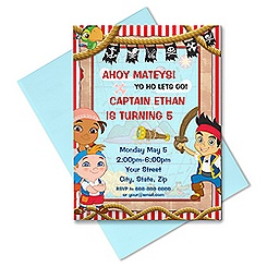 Jake and the Never Land Pirates Invitation - Customizable