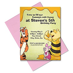 Winnie the Pooh and Pals Invitation - Customizable