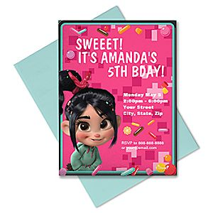 Vanellope Invitation - Customizable