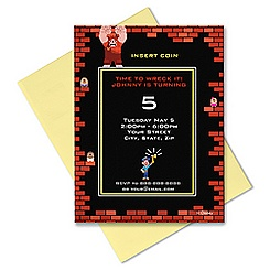Wreck-It Ralph Invitation - Customizable