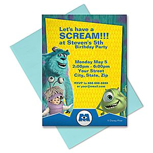 Monsters, Inc. Invitation - Customizable