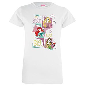 Disney Princess Big Dream Tee for Girls