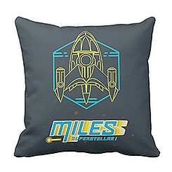 Miles from Tomorrowland Stellosphere Throw Pillow - Customizable