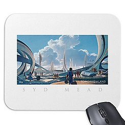 Tomorrowland Syd Mead Mouse Pad - Customizable