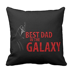 Star Wars ''Best Dad in the Galaxy'' Throw Pillow - Customizable