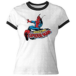 Spider-Man Ringer Tee for Women - Customizable