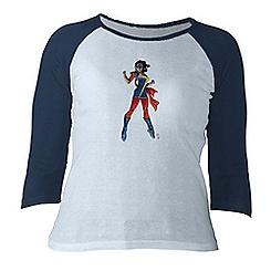 Ms. Marvel Raglan Long Sleeve Tee for Women - Customizable