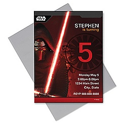 Kylo Ren Invitation - Customizable  - Star Wars