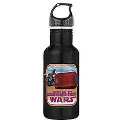 Rey and Speeder Water Bottle - Star Wars: The Force Awakens - Customizable