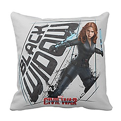 Black Widow Pillow: Captain America: Civil War - Customizable