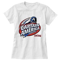 Captain America: Civil War Logo Tee for Women - Customizable