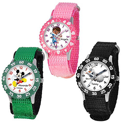 Time Teacher Watch with Nylon Strap and Bezel for Kids - Customizable
