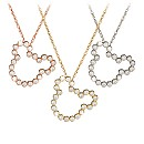 Diamond Mickey Mouse Silhouette Necklace - 18K Gold